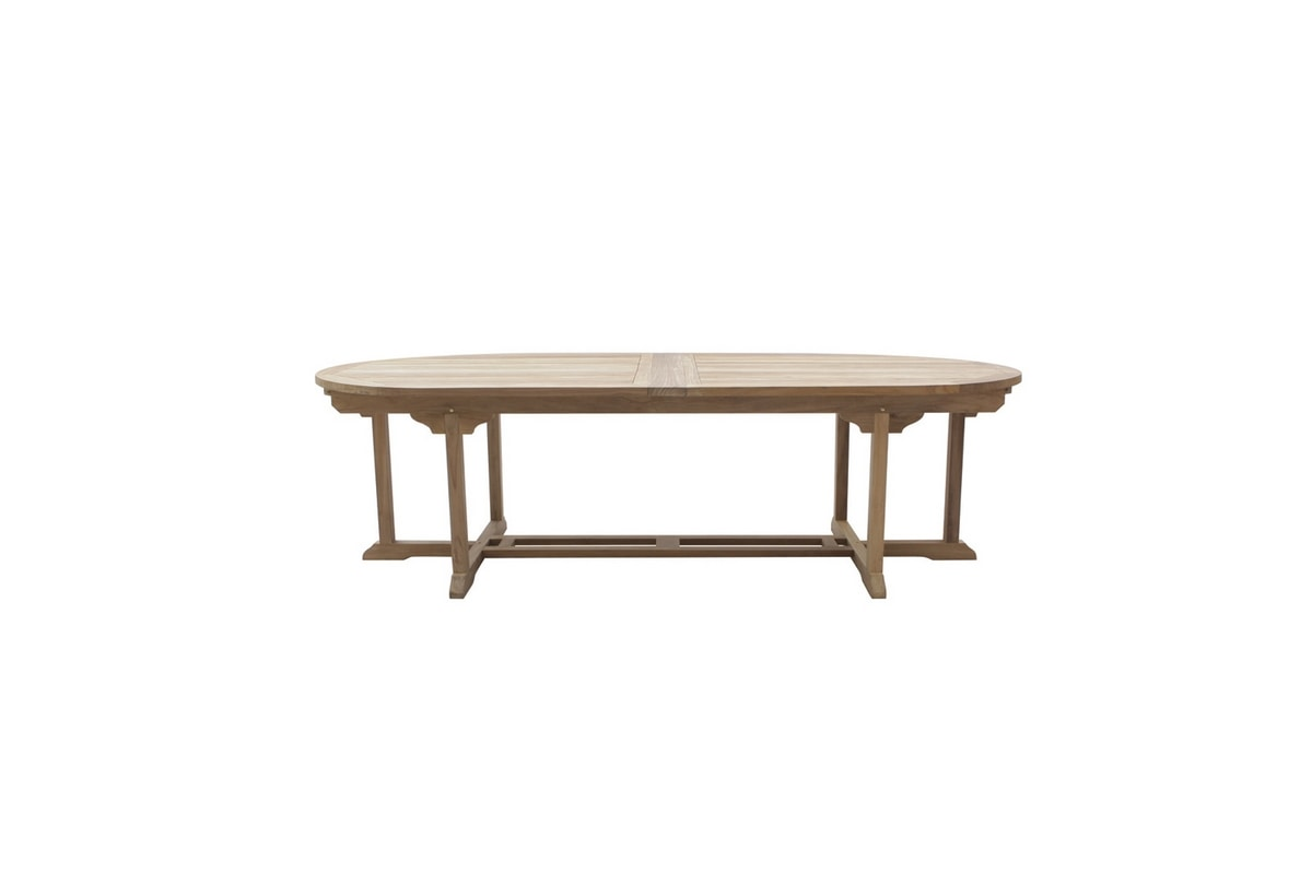 Classica 0440, Extendable table in wood, for outdoor use