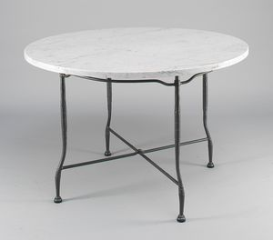 INTRECCIO GF4004TA-D90, Outdoor table with round marble top