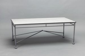 INTRECCIO GF4004TAB, Rectangular table with Carrara marble top