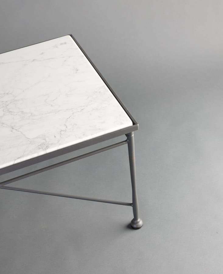 INTRECCIO GF4004TAB, Rectangular table with Carrara marble top