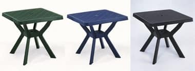 Nilo, Waterproof plastic table, various colors