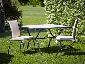 ROMBI GF4002TA-MAC, Outdoor table in iron and marble