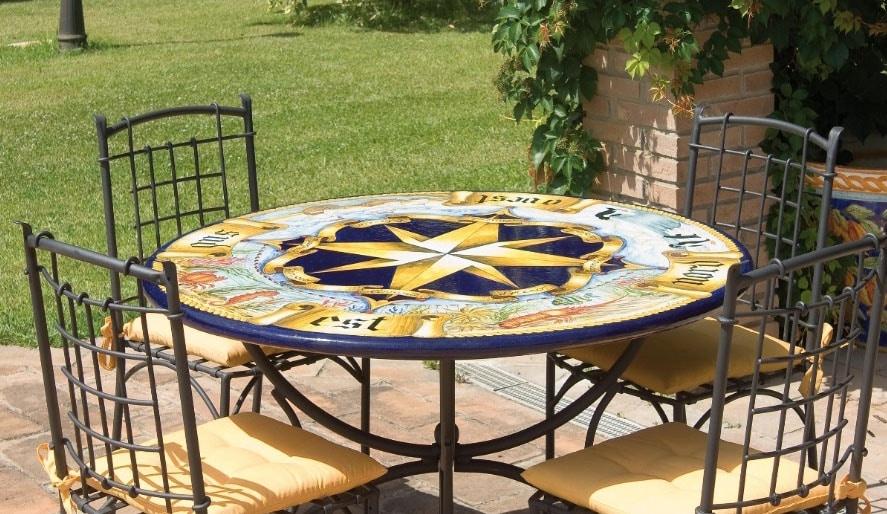 Rosa dei Venti antica, Garden table or for classic environments