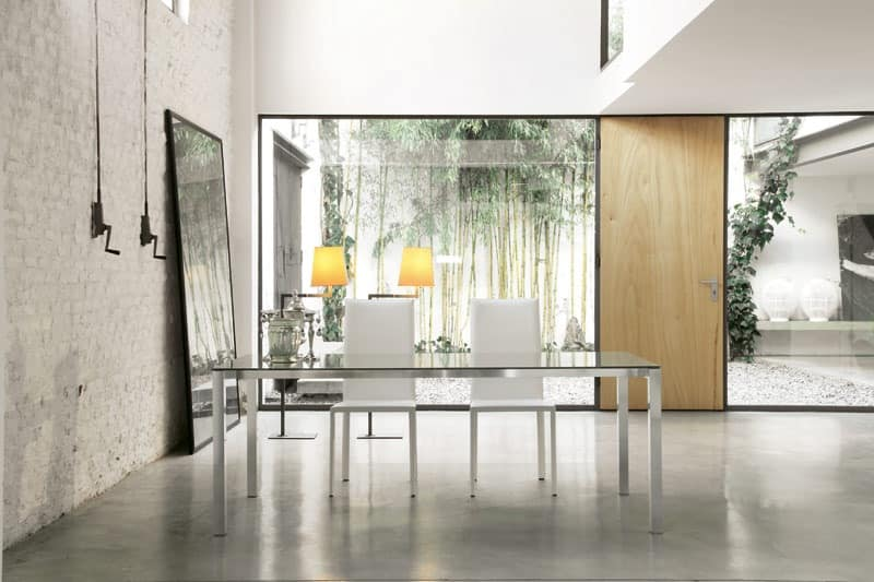 dl50 new york, Rectangular dining table with aluminum frame