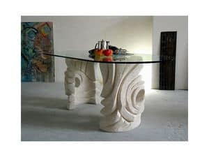 Niagara, Oval stone table for home or office