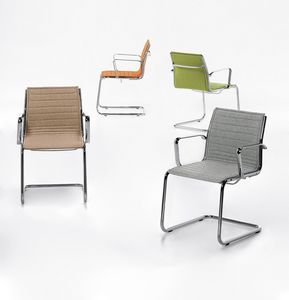 Aalborg Line 03, Sled chair, Horizontal seams, for office