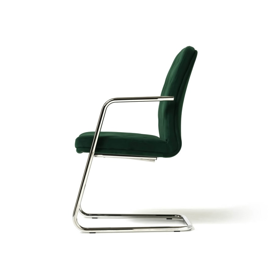 Artu visitor, Visitor chair for modern office, with sled base