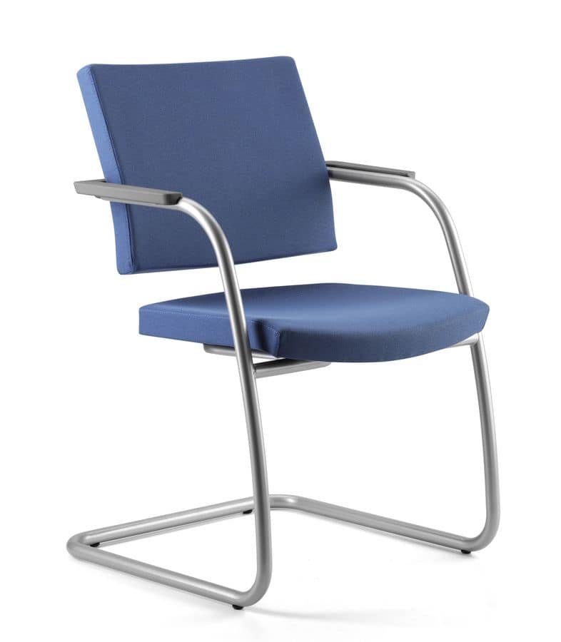 AVIAMID 3418, Visitor chair for office, padded, armrest covers