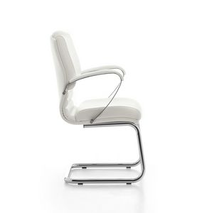 Digital Chrome 03, Visitor chair, tubular steel base, for office