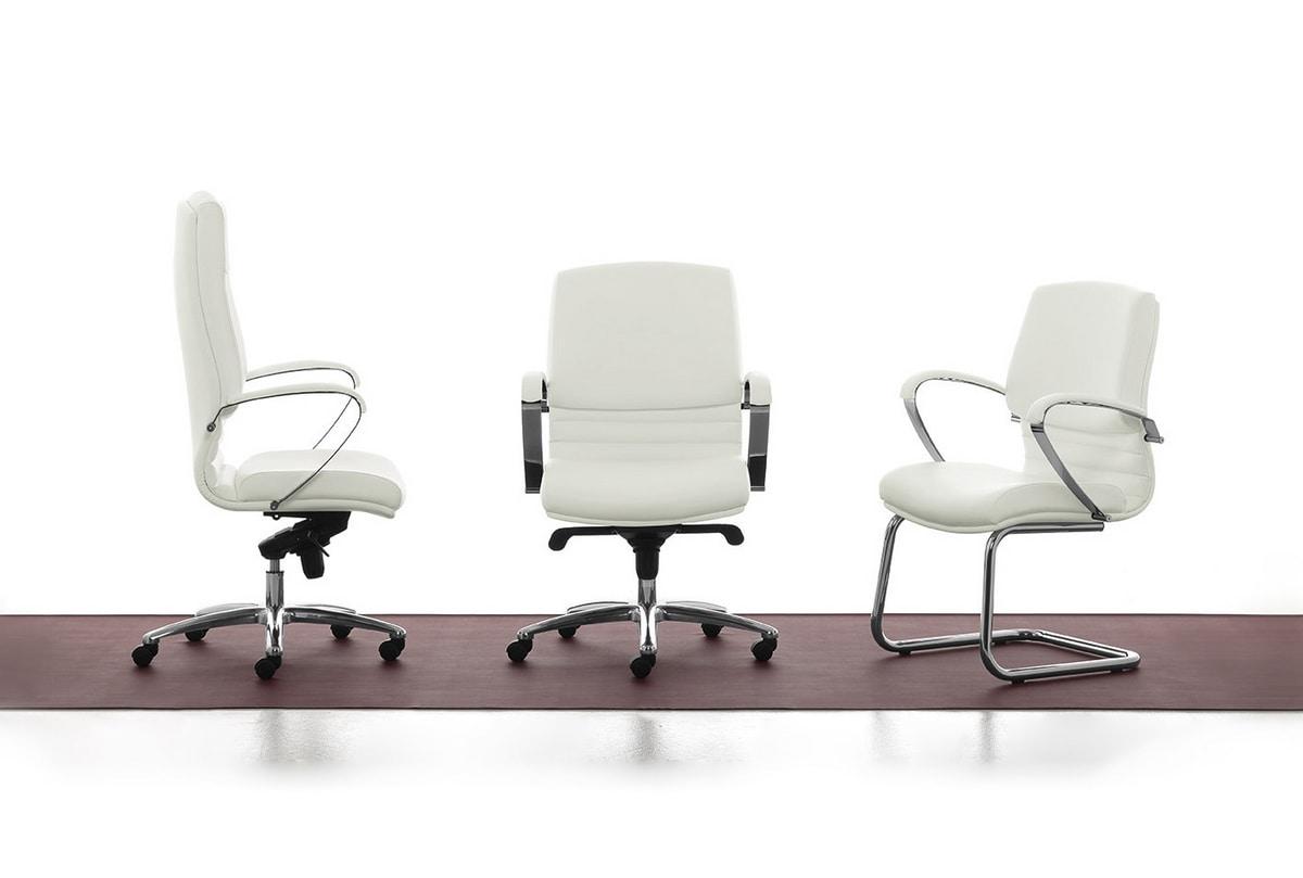 Digital Chrome 03, Visitor chair, tubular steel base, for office