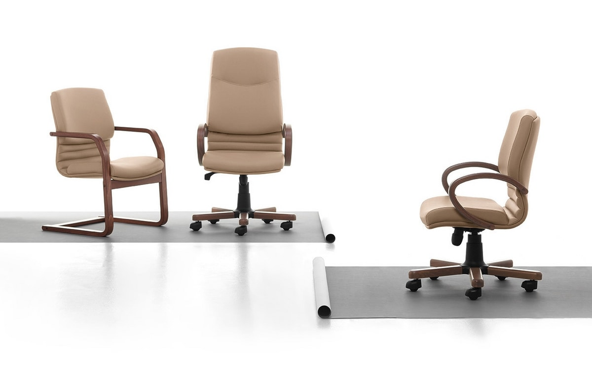 Digital WD 03, Padded visitor chair, plywood frame, for office