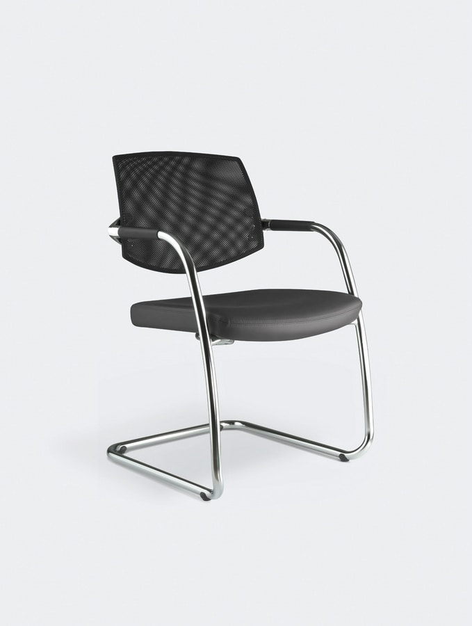 EURA visitor, Office chair with sled base