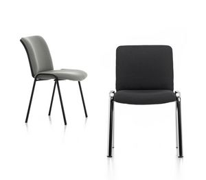 Isotta 01, Padded chair for office guests
