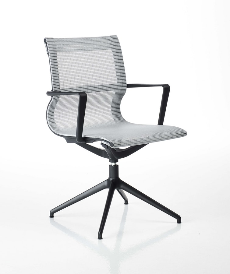 Liberty pyramid base, Office visitor chair in mesh
