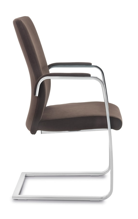 Line visitors, Chair for office customers, with cantilever base