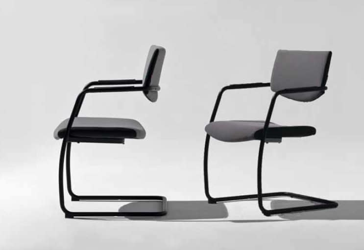 Lora-V, Cantilever chair for office visitors