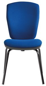 Mirage 4 legs, Upholstered chair for office visitors, fire retardant