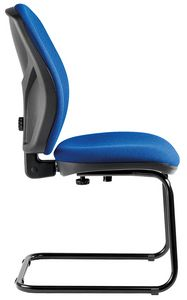 Mirage cantilever, Chair with fixed backrest, for office guests