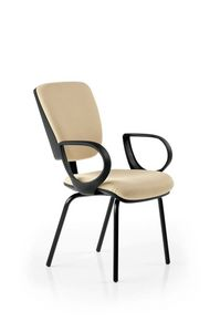 Naos 185, Visitor chair for office with armrests