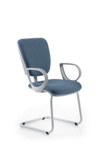 Naos Grey 177, Office chair with sled base