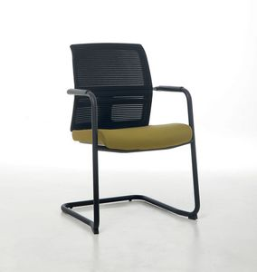 Omnia Plus 05, Office visitor chair with mesh backrest