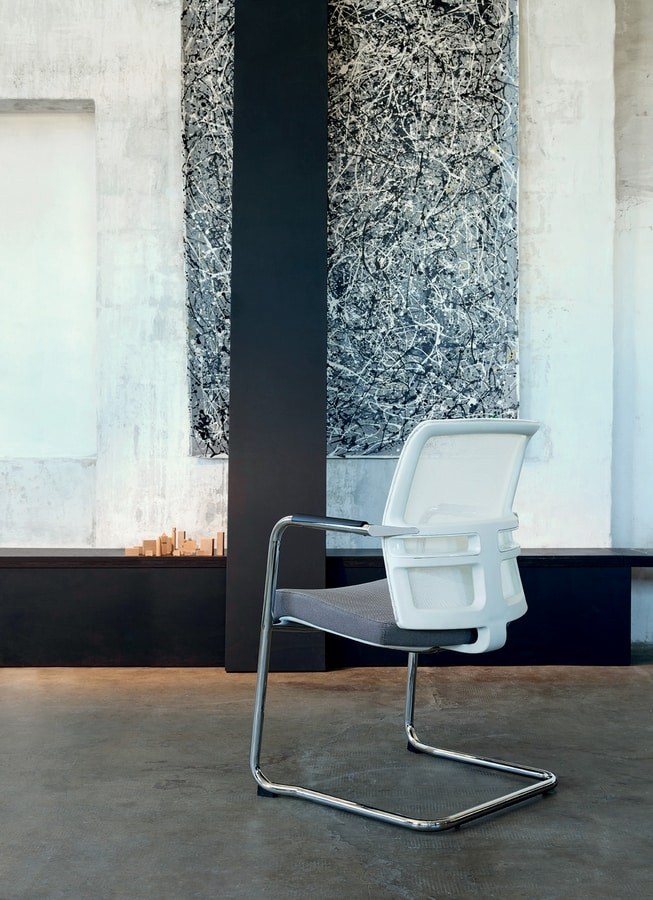 Omnia White 05, Chair for office customers