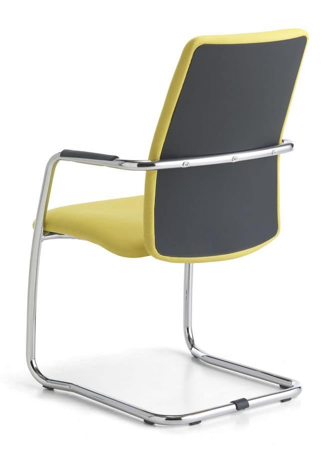 Samba HB 01, Visitor chair upholstered, metal base, for office