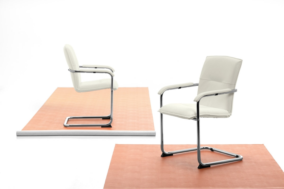 Silla 01, Chair with cantilever base for office