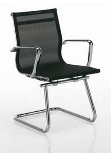 Tralis-V, Office chair for customers, with mesh backrest