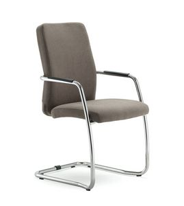 UF 137 / S, Chair upholstered with sled, with elegant seams