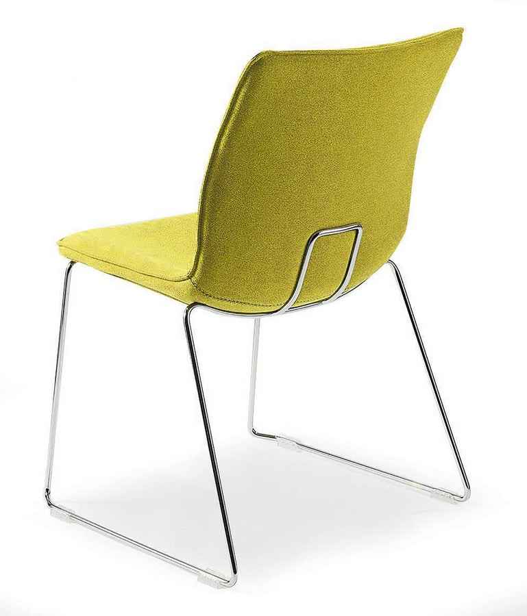 UF 180 / S, Sled chair with large seat, made in Italy