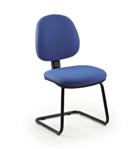 UF 317 S, Visitor chair upholstered in various colors, ergonomic