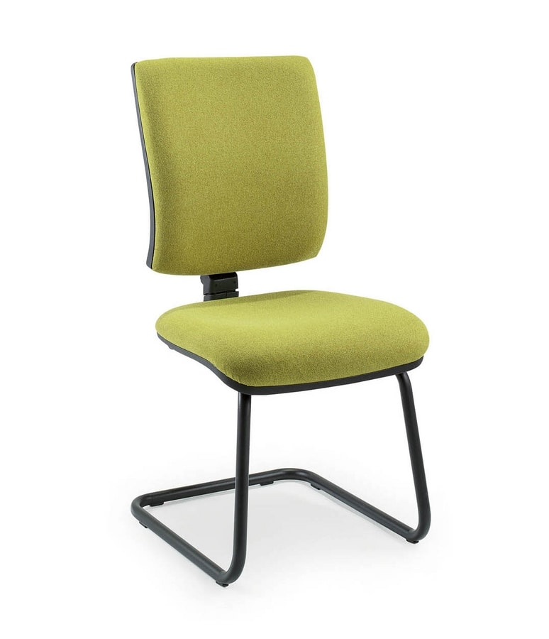 UF 334 S, Visitor chair for waiting areas, square-shaped