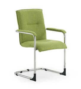 UF 445 S, Padded visitor chair, with scratch feet