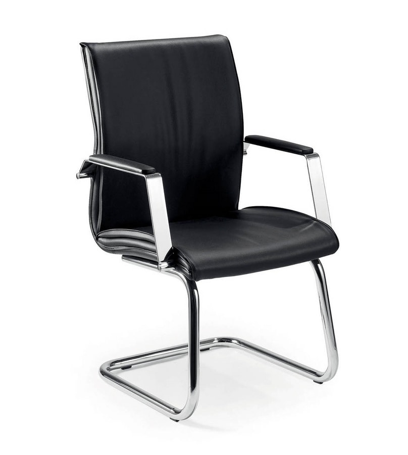 UF 508 / S, Visitor chair with padded armrests, in various colors