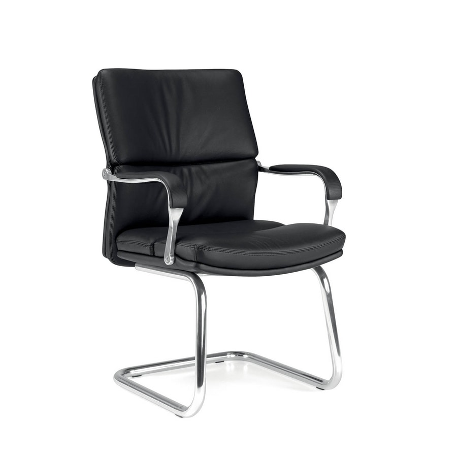 UF 578 S, Visitor chair for office with padded armrests