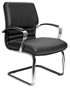 Venus CR cantilever, Office Visitor Chair with Upholstered Armrests