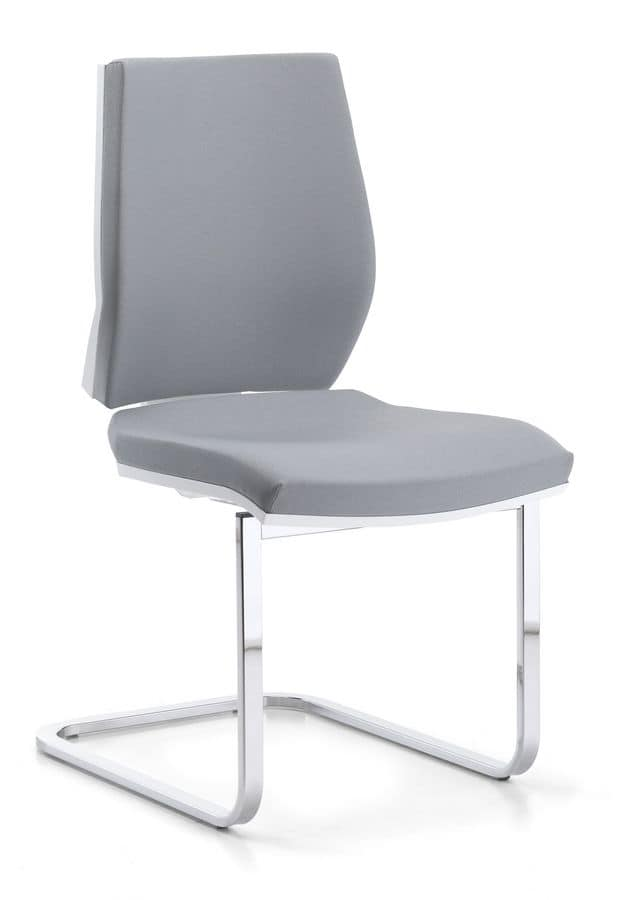Venus WH 03, Visitor chair upholstered, metal slide, for office