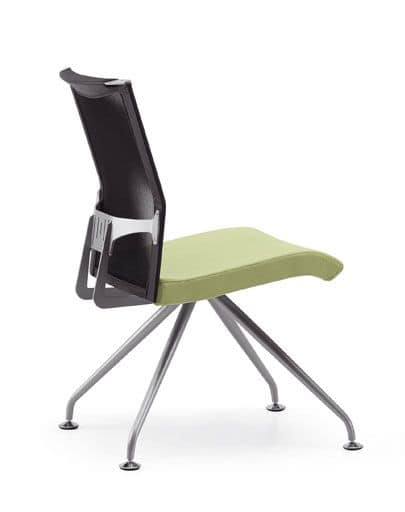 AVIANET 3645, Office chair with mesh back and upholstered seat