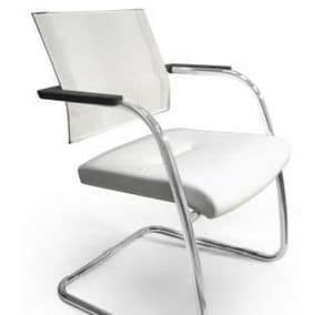 TITANIA 2867, Chair with chromed slad base and mesh back