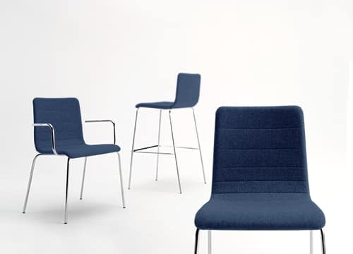 Traccia AR, Stackable metal chair, with fireproof fabric