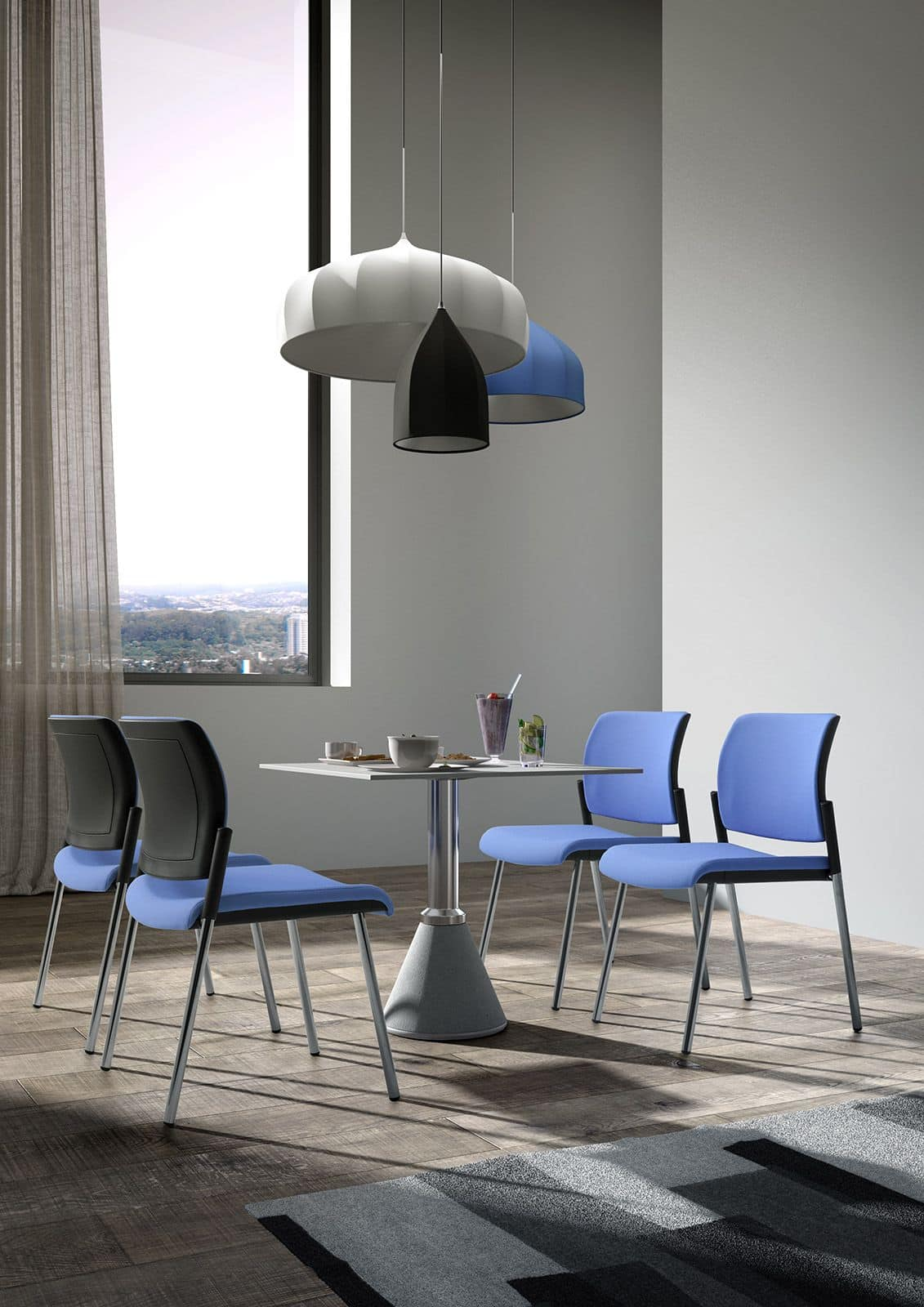 Wiki 4g, Chair with mesh backrest ideal for office