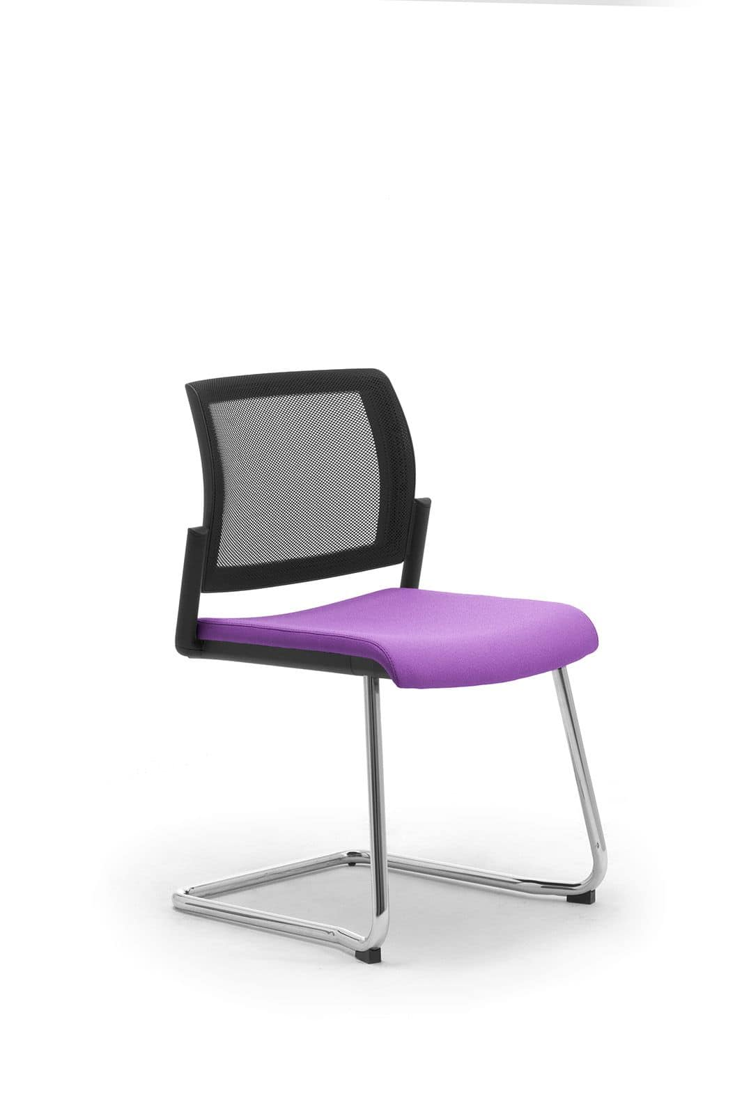Wiki relax, Guest office chair with upholstered seat and mesh back