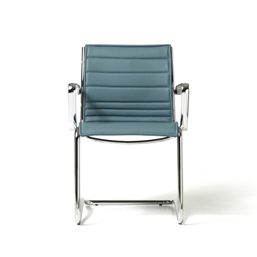 Auckland chair, Upholstered chair for visitors, net shell, various colors