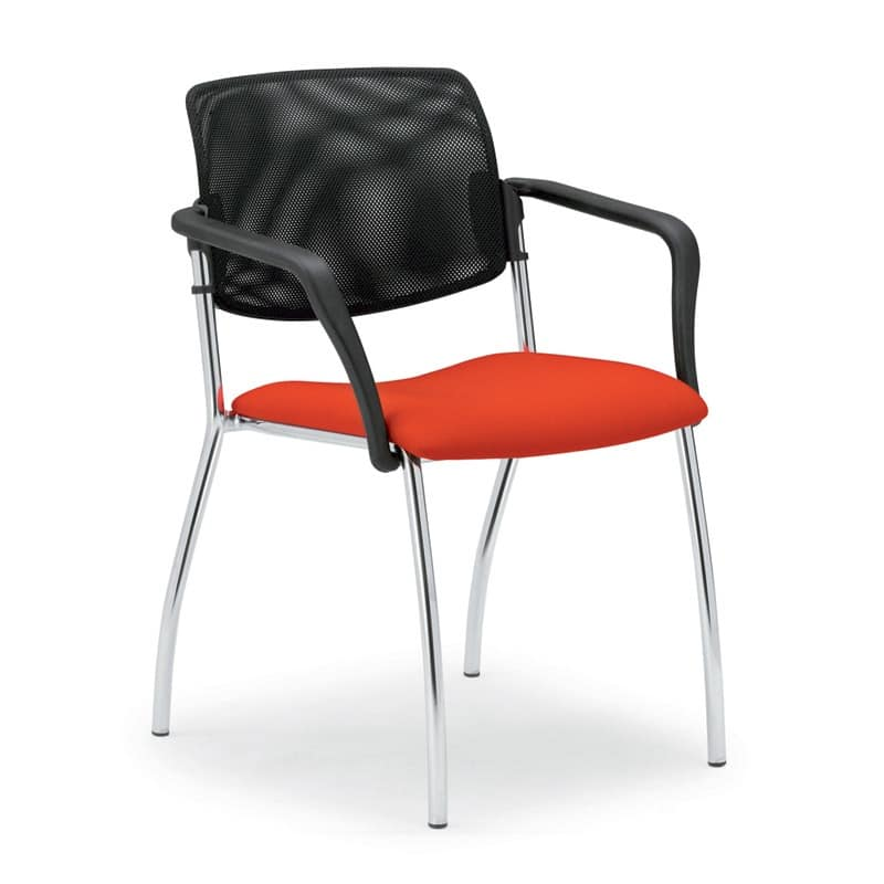 Laila 0583L, Chair with mesh backrest, for meeting rooms and offices