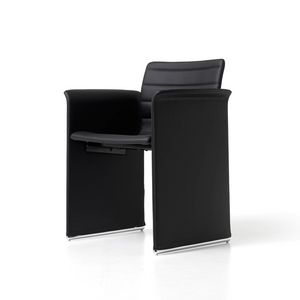 Mister, Padded chair in plywood, for offices and meeting rooms