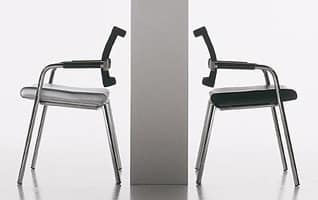 Star chair, Visitor chair for the home and office, in steel