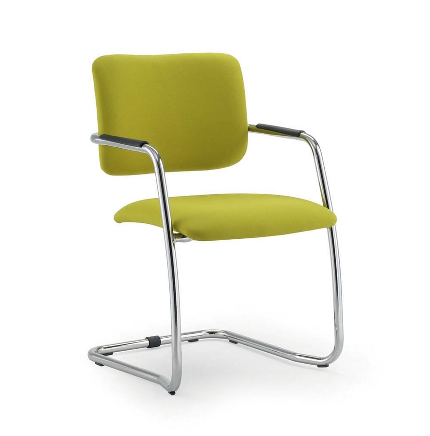 UF 136 / S, Visitor chair with sled and armrests, stackable and versatile