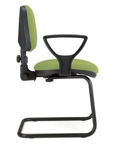 UF 307 / S, Sled chair with armrests and adjustable back