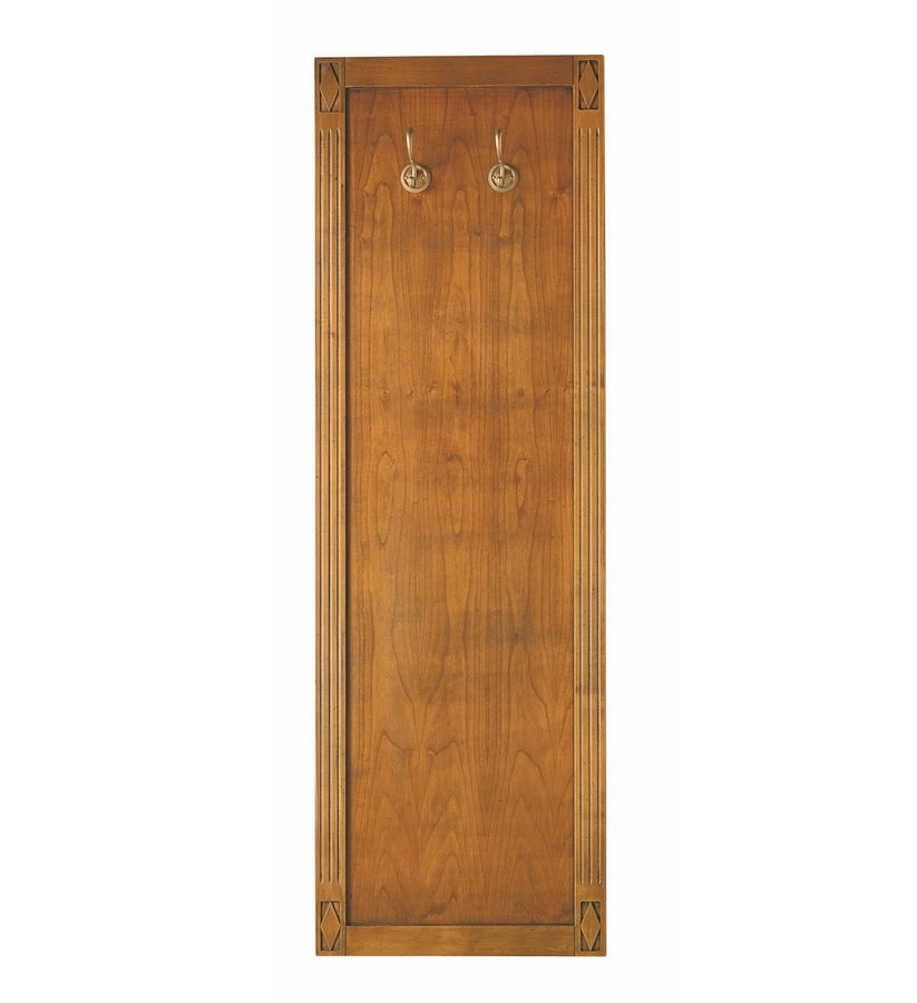Villa Borghese wall mounted coat rack 9372, Wooden clothes hanger panel for entrance